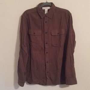 H&M corduroy long sleeved butting down shirt